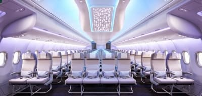 Airbus unveils the plane cabin that social media built